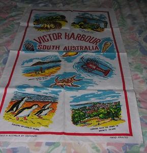 vintage kitsch tea towel victor harbor