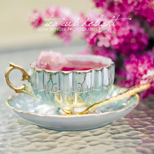 the small wonders by onixa.deviantart.comBones China, Teas Time, Teas Cups, Cups Of Teas, Gold Accent, Pink Tea, Vintage Tea, Teacups, Teas Parties