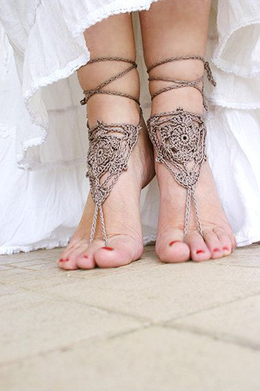 Bohemian clothing sandal Barefoot hippie sandals by MarryG on Etsy, $16.00