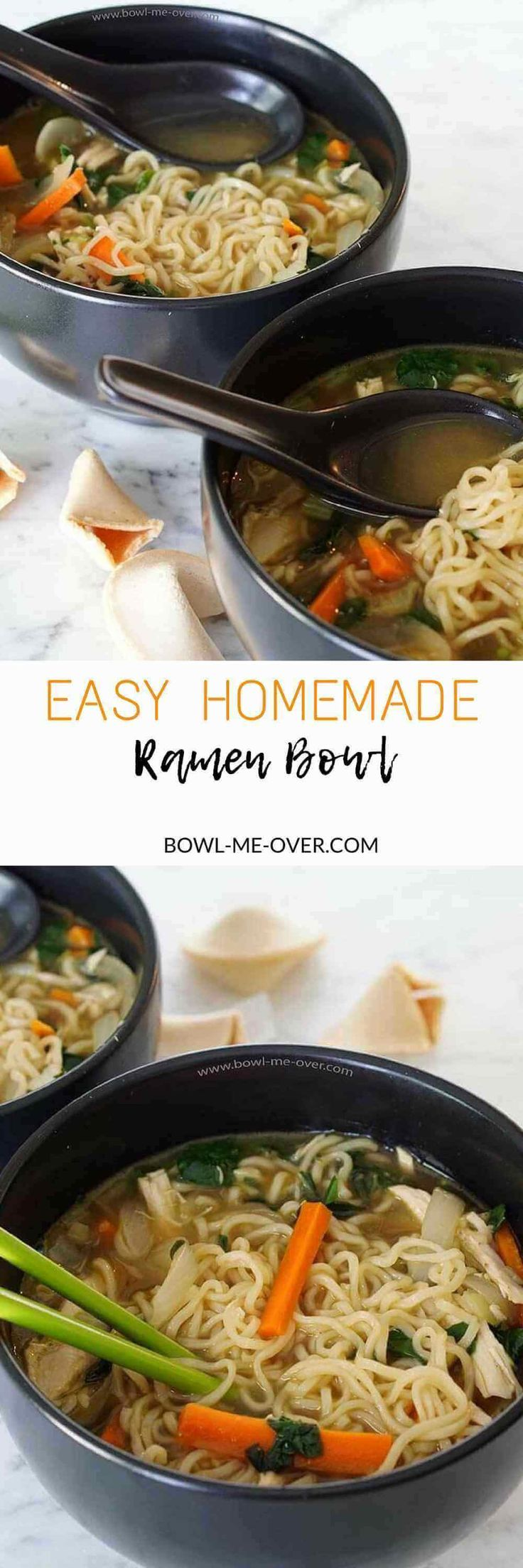 Want to enjoy a great bowl of Ramen at home? Now you can with this Easy Homemade Ramen Bowl Recipe - big flavor and only 20 minutes to make!