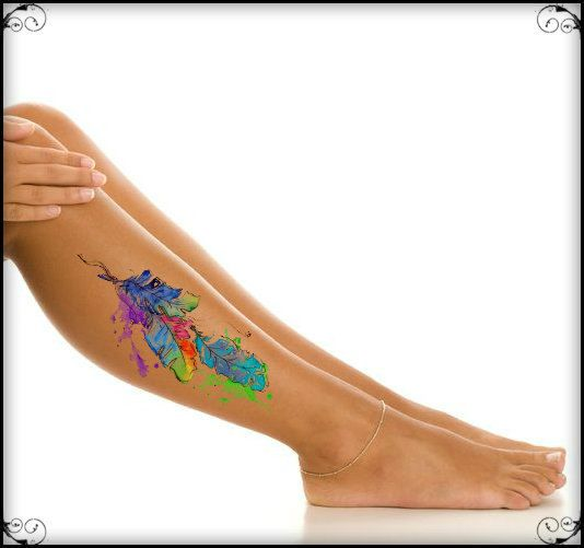 Temporary Tattoo Feathers Waterproof Fake Tattoos by UnrealInkShop