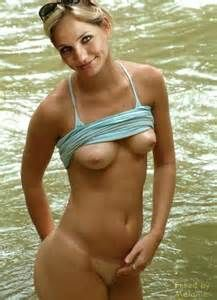nude male at girl pool party