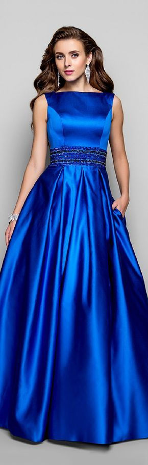 A-Line Ball Gown Bateau Neck Floor Length Satin Prom Formal Evening Military Ball Dress with Beading Draping