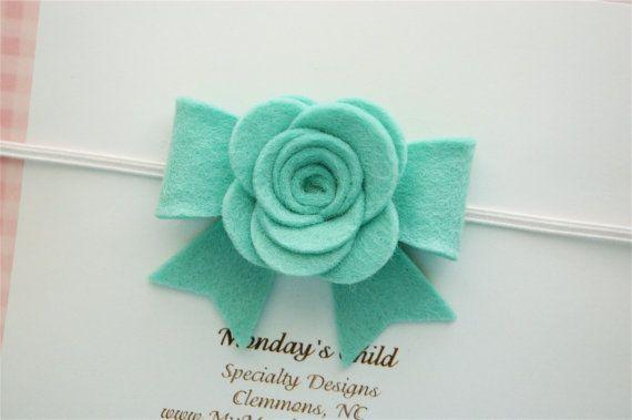 Felt Bow Headband Felt Flower Headband Felt by MyMondaysChild