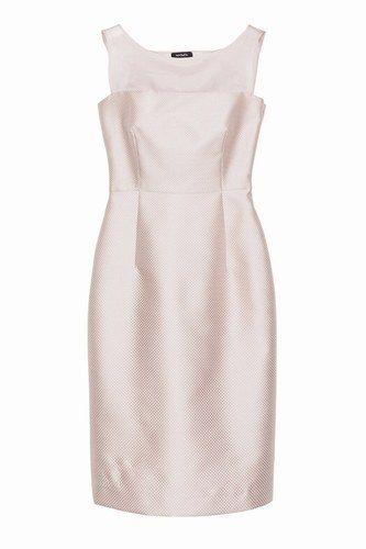 Abito aderente di piqué e organza rosa pallido Max and Co.   Abiti eleganti da cerimonia 2014 #clothing #fashionable