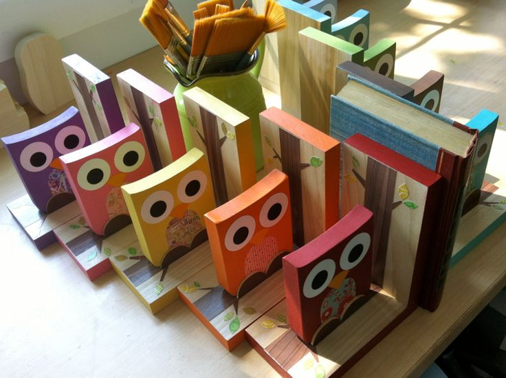 These handcrafted, eco-friendly bookends will help keep your child's favorite reads organized.
