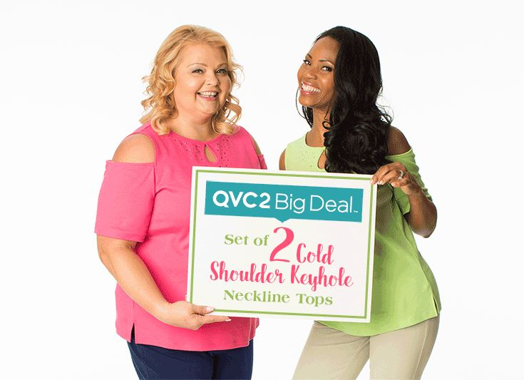 """Our BIG Deal is a 'Cut above the Rest""""! Shop our BIG Deal NOW and Tune-in Tonight at 9pm onQVC2see on air! Available in 4 awesome combos! Get your Big Deal Now on QuackerFactory.com or us this link http://qvc.co/QF_March_BIG #quackerfactory#qvc2#bigdeal#sparkle#shine#fashion#quackers#spring#coldshoulder"""