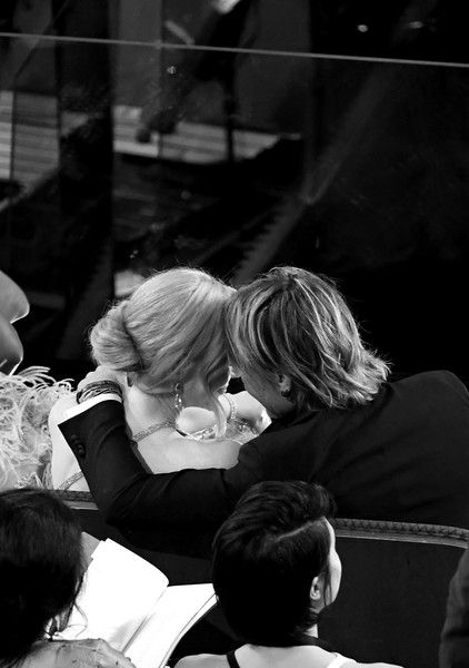 Keith Urban Photos Photos - Image has been converted to black and white.) Actor Nicole Kidman (L) and musician Keith Urban in the audience during the 89th Annual Academy Awards at Hollywood & Highland Center on February 26, 2017 in Hollywood, California. - 89th Annual Academy Awards - Show