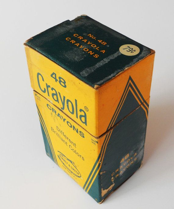 vintage crayon box-oh the smell of new crayons and a new Big Chief Tablet!!!