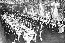 Waldorf–Astoria (New York, 1893) - Banquet for Elbert Henry Gary, a founder of US Steel (1909)