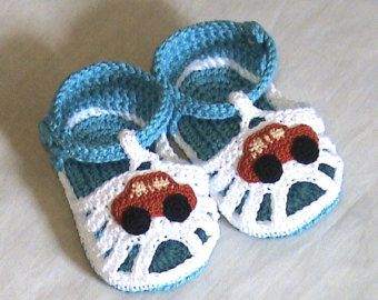 Crochet baby sandals,Crochet boys sandals,Crochet blue and white sandals,Crochet boys shoes,Crochet booties,Cotton sandals