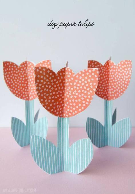 diy paper tulip template tutorial pinterest diy tutorial