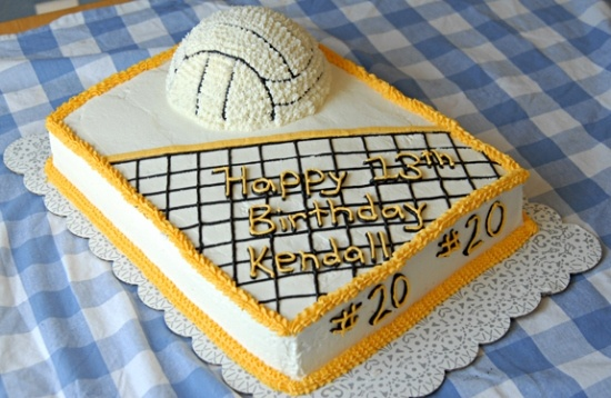 volleyball net - cute on a cupcake, too!