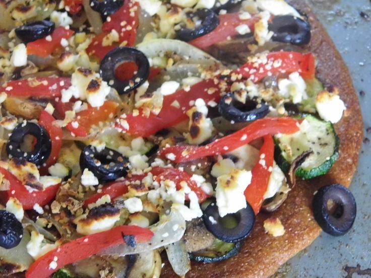 Roasted Vegetable Flatbread With Feta | Recipes | Pinterest