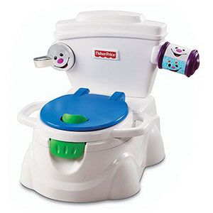Whether ready or not, a potty trainer is always a good gift. Set it in the living room to get them used to sitting on it. Then you can transition them to potty training. The more fun accessories, the more they'll love it and WANT to use it.