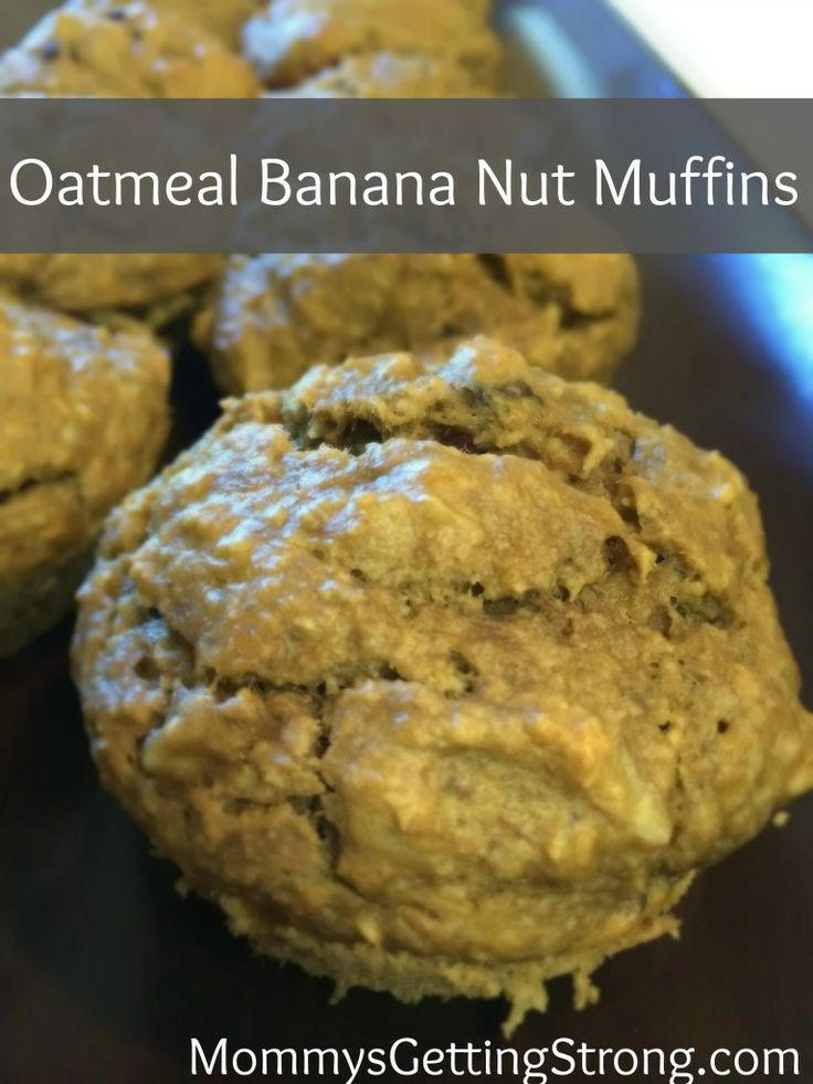 Gluten Free Oatmeal Banana Nut Muffin. Great for make ahead breakfasts and snacks!