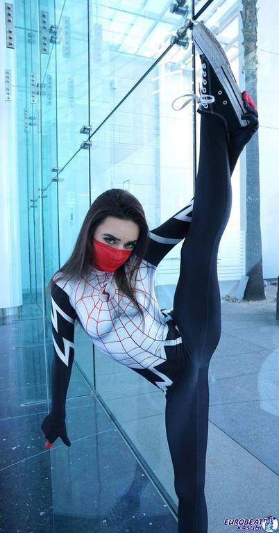 cosplay Black cat spiderman