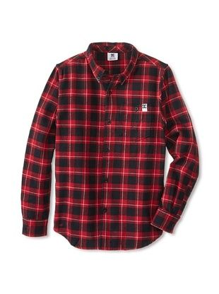 64% OFF DC Boy's Richard Flannel (Deep Red)