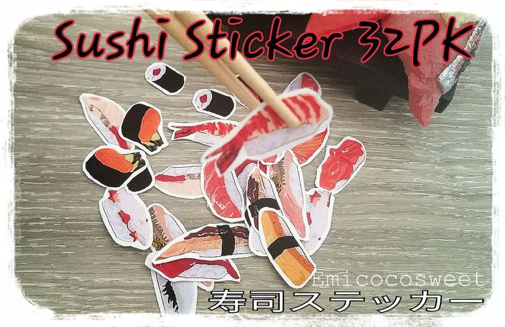 32 Sushi Japanese Food planners Stickers Novelty,Craft,Scrapbook,Cute Stickers