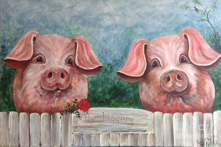 Марта, свинья картинка смешная рисованная