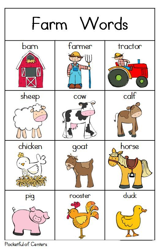11 best animals farm images on pinterest farm animals learn english and languages. Black Bedroom Furniture Sets. Home Design Ideas