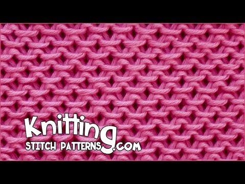 Knitting Stitch Patterns: Slip Stitch Honeycomb