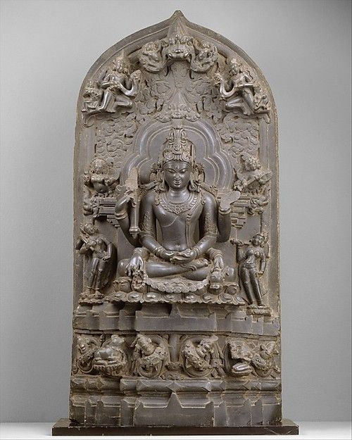 Seated Six-Armed Shiva as Conquerer of Death (Mrityunjaya). Date: 12th century. Bangladesh or India (Bengal). The Metropolitan Museum of Art.
