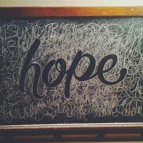 Hope – Chalk Typography