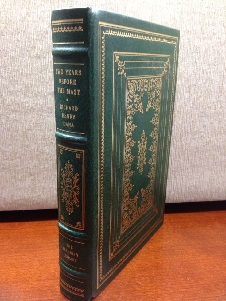 Two Years Before the Mast Richard Henry Dana Franklin Library Full Leather 100