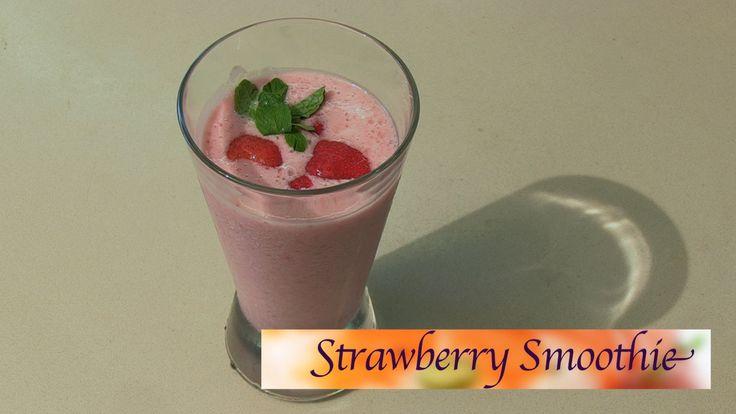 Strawberry Smoothie Recipe by Smita || India Food Network