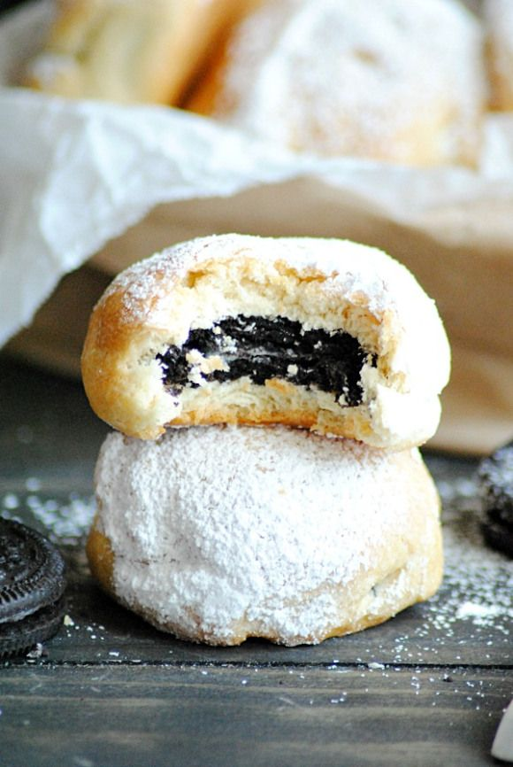 "Baked ""Deep Fried"" Oreos are just as yummy as the real thing but with a LOT less mess and less fat! What I'm making for the FireStorm Christmas party!!"