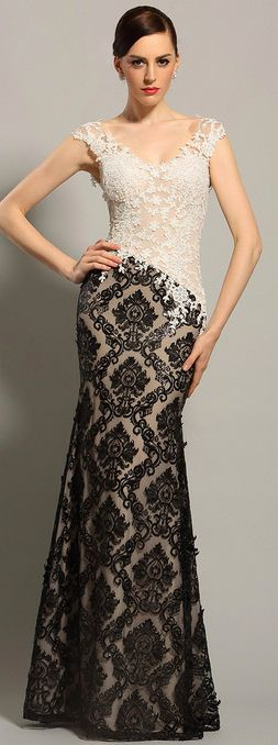 eDressit Sleeveless Lace Bodice Evening Gown