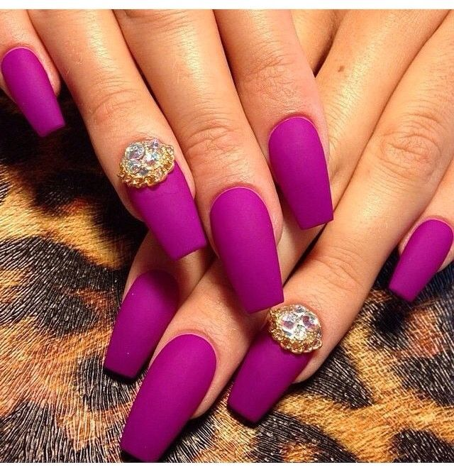 AMAZING COLOR! Tapered square nails | Nail Designs ...