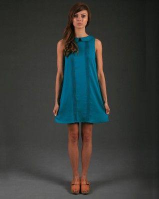 The Gorjess Closet Pintuck Love Dress in Jade - Clothing - Birdmotel Online Store