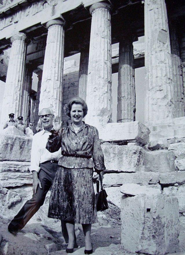 Margaret & Dennis Thatcher at the Acropolis
