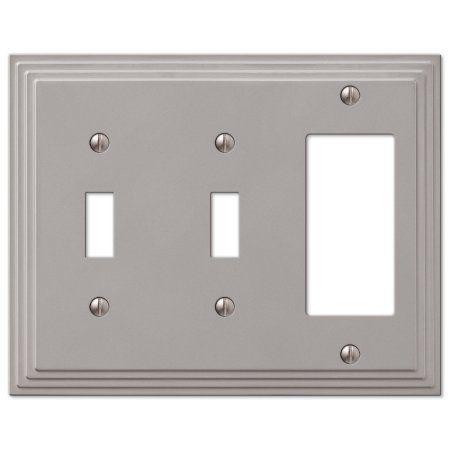 Amertac 84ttrn 2 Toggle 1 Rocker Gfci Steps Wallplate Nickel Plates On Wall Switch Plates Plates