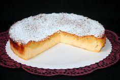 Dreh dich um-Kuchen - Zauberkuchen - Hinweis: der Teig ist seeehr dünnflüssig, daher ist eine konvetionelle Springform nicht geeignet; besser eine Silikonbackform