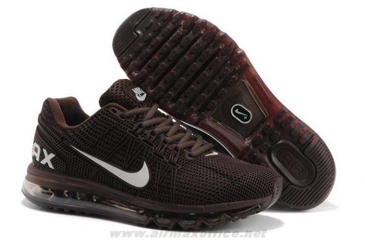 2014 Mens Shoes Nike Air Max 2013 KPU Coffee White