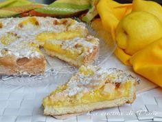 crostata limone e cocco una dolce dal sapore esotico grazie al cocco e tanto profumato grazie alla crema al limone senza latte. Dolce con cocco e limone