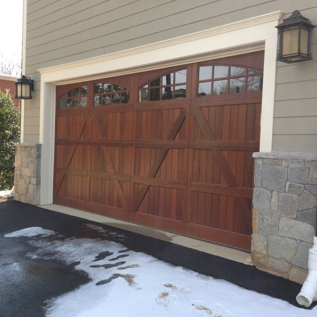 Sapele Mahogany wood garage door in Bethesda MD by Crisway Doors & 27 best Carriage Wood Garage Doors and Carriage Composite Garage ...