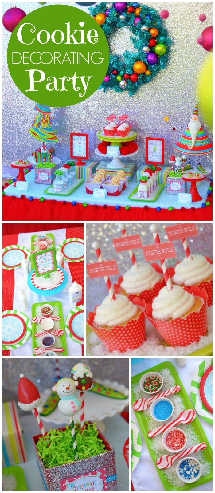 Cookie decorating party ideas - A Fun Cookie Decorating Party With Candy Cane Spoons Snowman Cookies And Cute Aprons