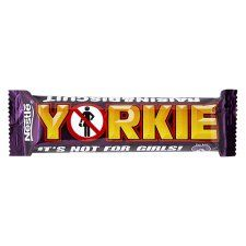 Yorkie Raisin And Biscuit Chocolate Bar 53G - Groceries - Tesco Groceries €1.05 Chunky milk chocolate with raisins (13%) and biscuits (4%).