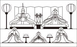 レク素材 雛飾りの詳細ページ介護レク広場は高齢者用レク素材と