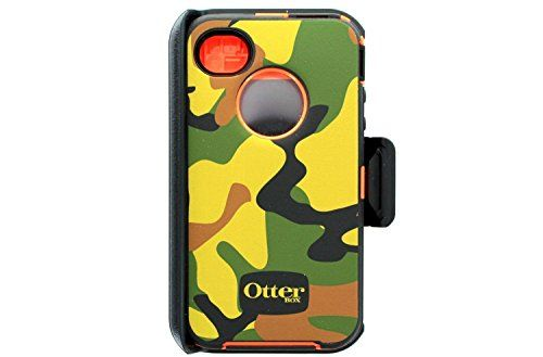 OtterBox Defender Case for iPhone 4 and 4S, Jungle Camo Design, Ultimate Protection - Retail Packaging - Jungle Camo