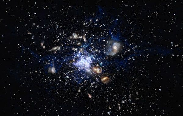 Glow-in-the-dark gas lights up the cosmic web --  Even without an obvious power source, this huge nebula is helping astronomers trace the invisible matter that spans our universe.