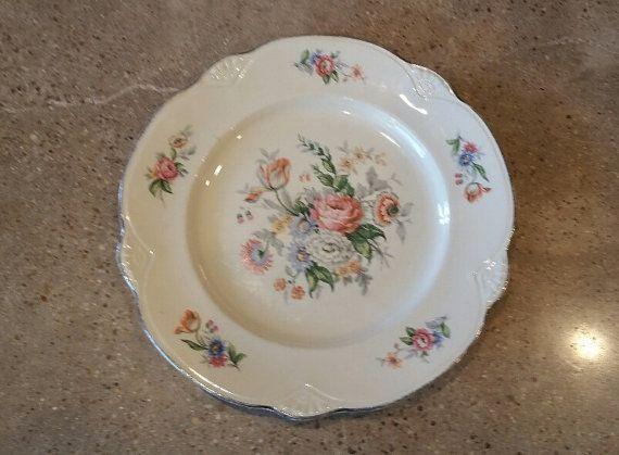 Homer Laughlin Marigold Dinner Plate by LoveAndLegacies on Etsy