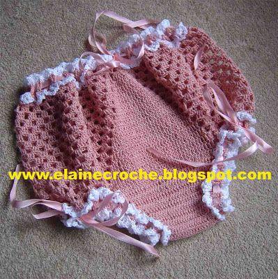 Elaine Croche: CALCINHA INFANTIL EM CROCHE