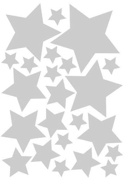 muurstickers zitten in vier verschillende maten op een stickervel in A5 formaat. In totaal zitten er 23 sterren op een vel. Ze zijn gemaakt van een matte stickerfolie van zware kwaliteit. De stickers zijn makkelijk verwijderbaar en opnieuw te gebruiken. Zowel binnen als buiten toepasbaar. Verkrijgbaar in de kleuren zwart, wit, mintgroen, roze, fuchsia roze, blauw, marine blauw en glanzend zilver.
