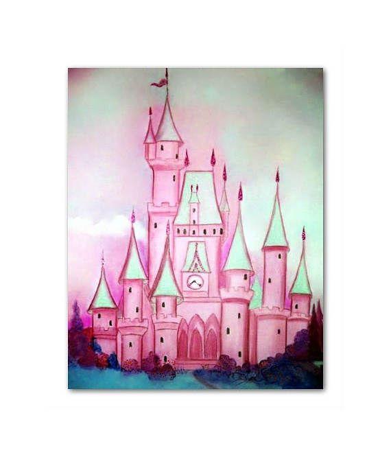 Princess Castle Cinderella Princess Wall Art Baby girl