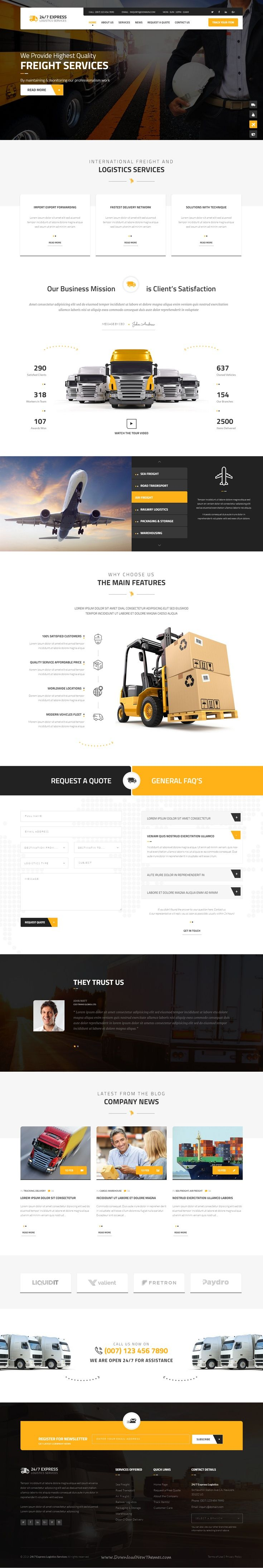 24/7 Express Cargo Services is a Multipurpose #Bootstrap HTML suitable for cargo, #logistics, trucking, transportation companies, warehouse and freight business #website. Check out http://www.imedia.click for more amazing info on all things effective online marketing